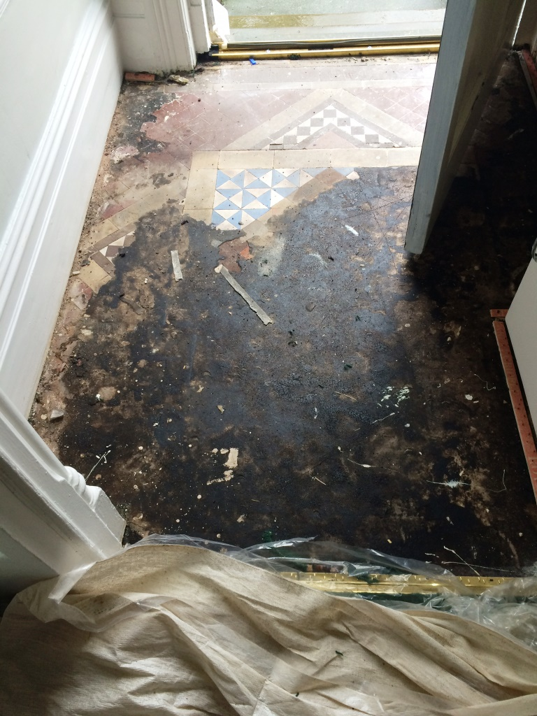 Victorian Tiles Covered in Bitumen Barrow in Furness